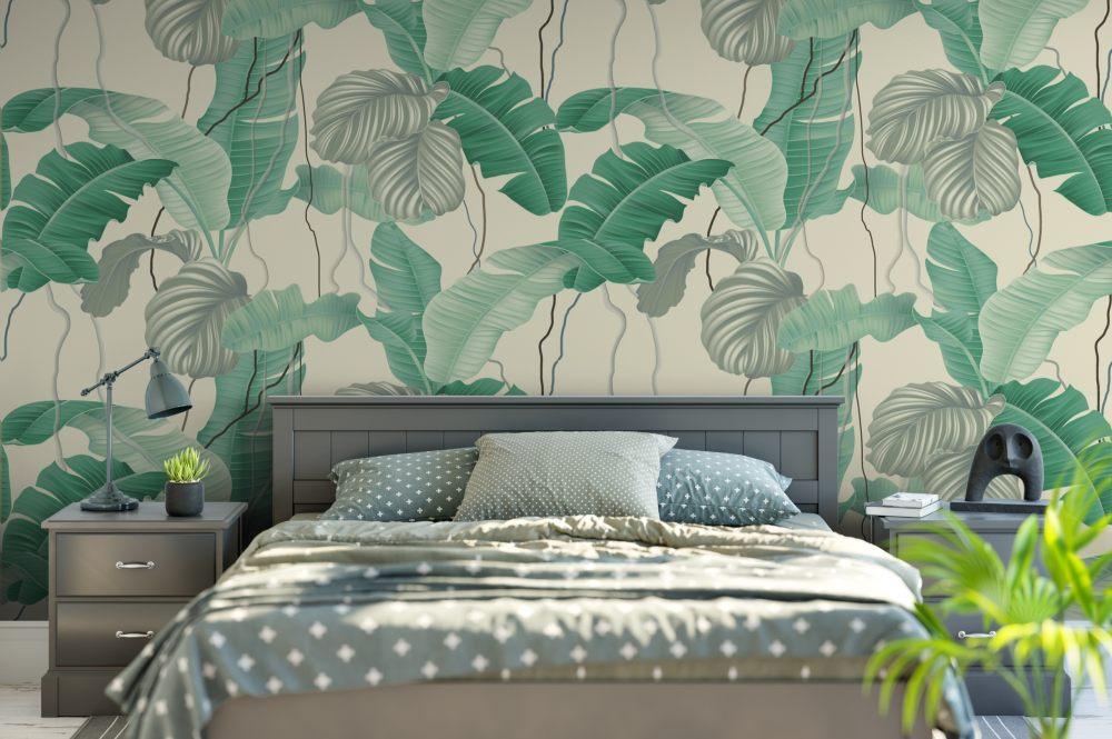 无缝壁纸,ins北欧植物  高清墙面壁纸、_无缝壁纸,ins北欧植物花卉   AI矢量图