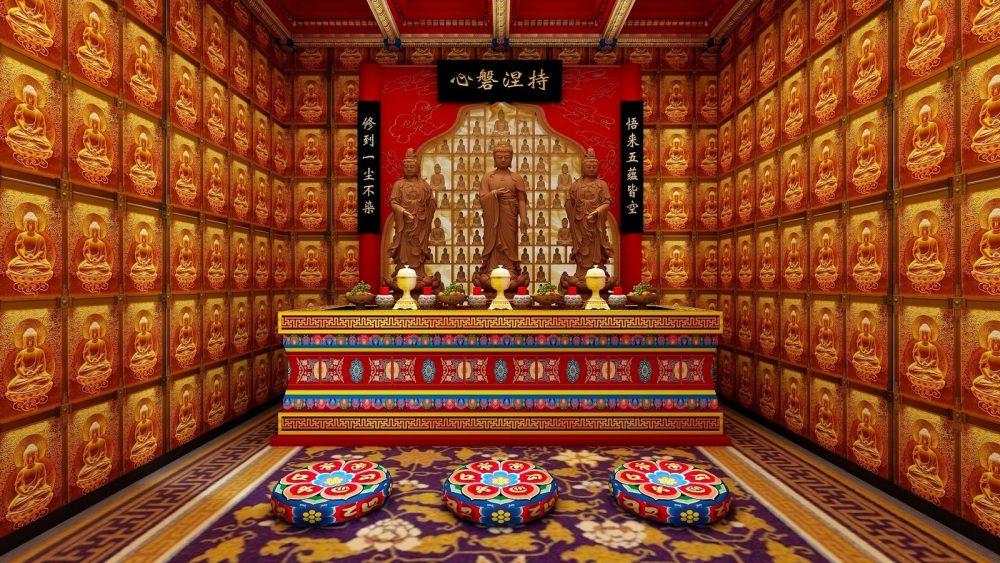 新藏式风格_五蕴空净心会所_拜谒室