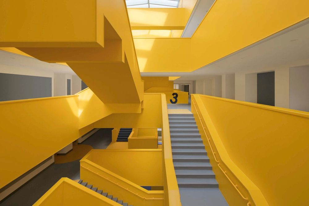 """摄影师夏至)崇文21_中轴线的楼梯群-""""山峰"""",在阳光照耀下熠熠生辉.jpg"""