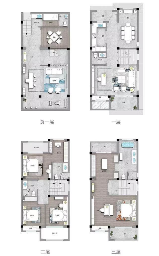273㎡新中式别墅,竟然可以这么美!-34.jpg