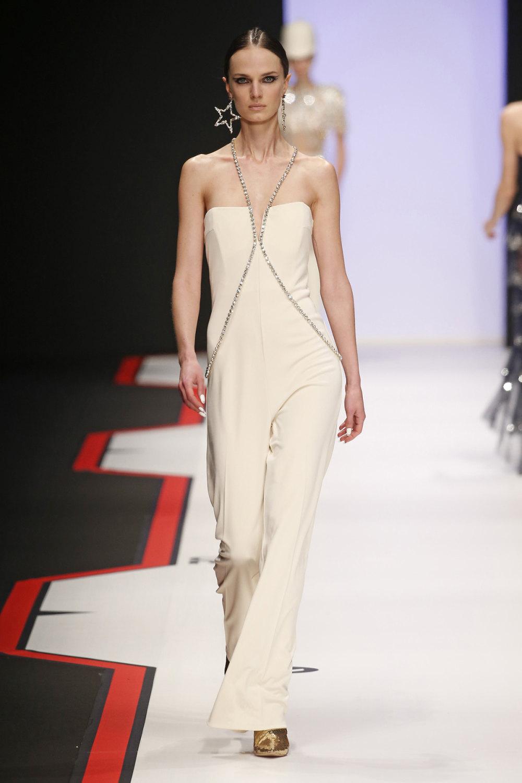 Elisabetta Franchi时装系列简约時尚的蓝色外套衬有印花迷你裙-61.jpg