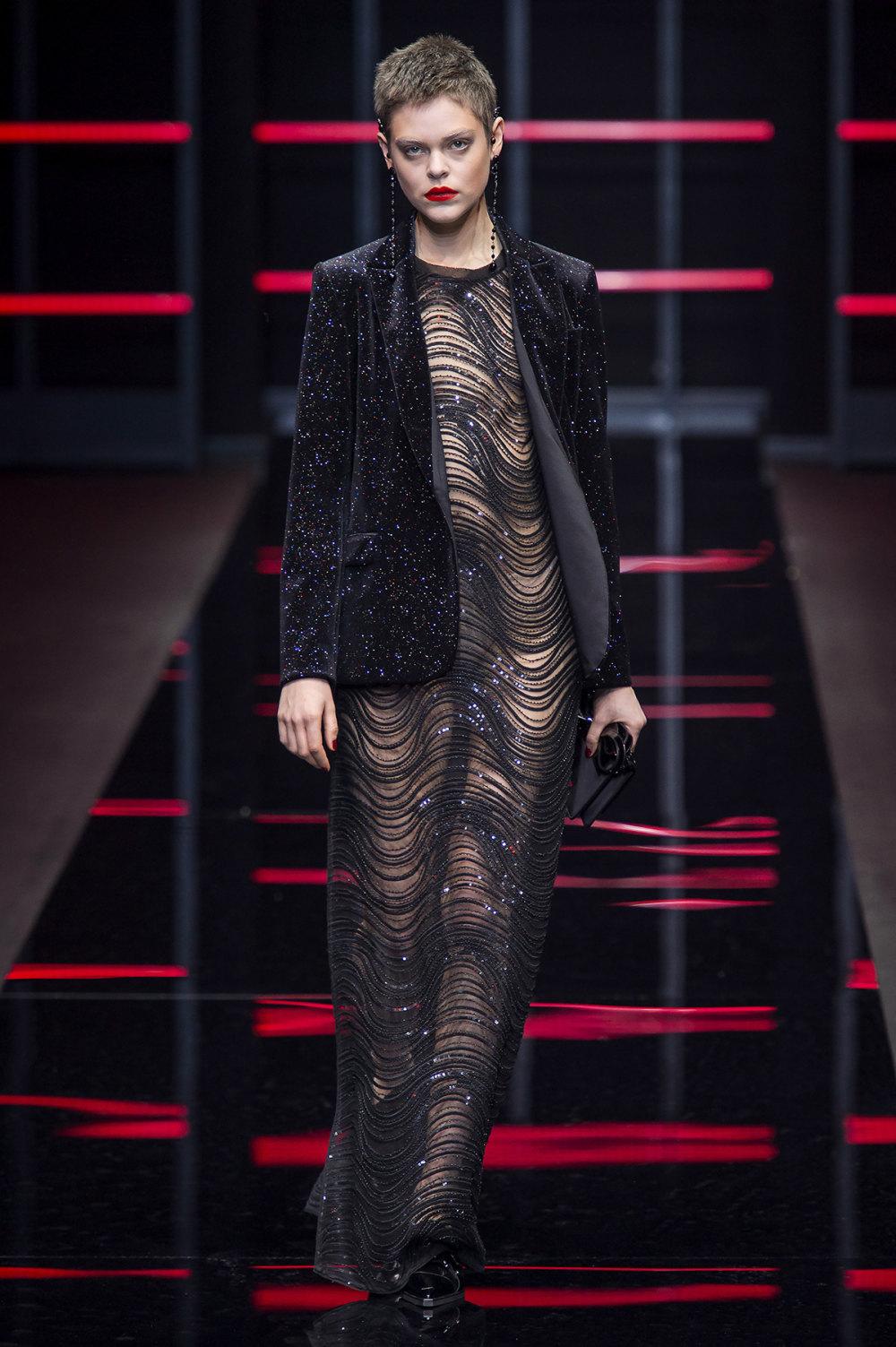 Emporio Armani时装系列畅的裤子带有柔滑裙子的鸡尾酒礼服-50.jpg