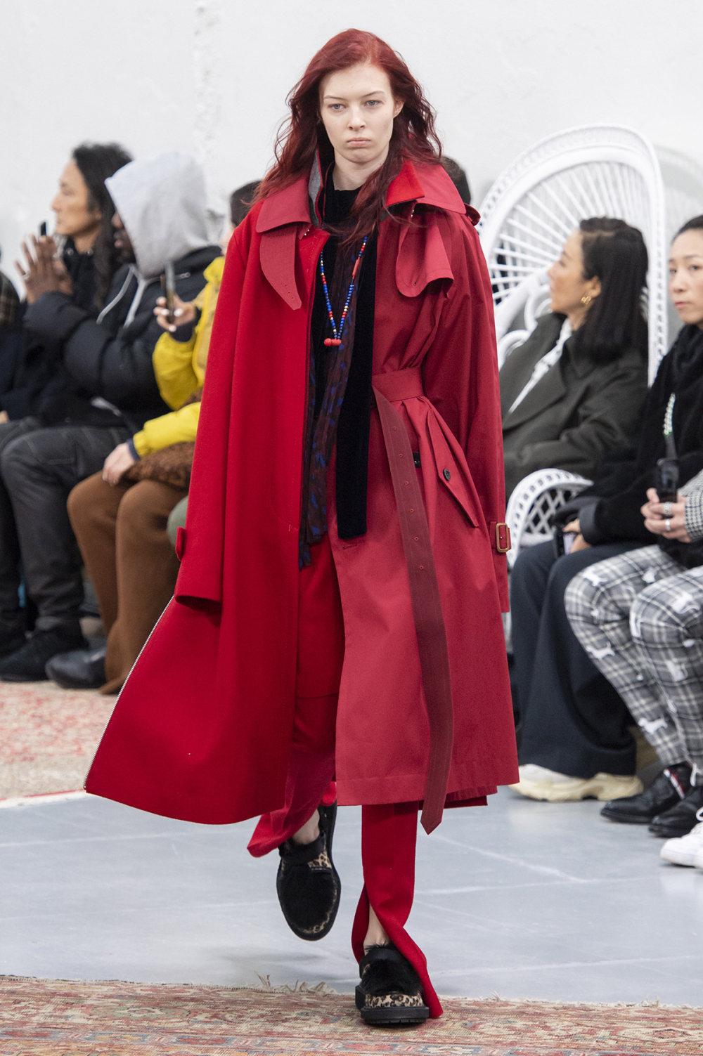 Sacai时装系列超大号黑色圆领毛衣和长款绿色北欧毛衣连衣裙-18.jpg