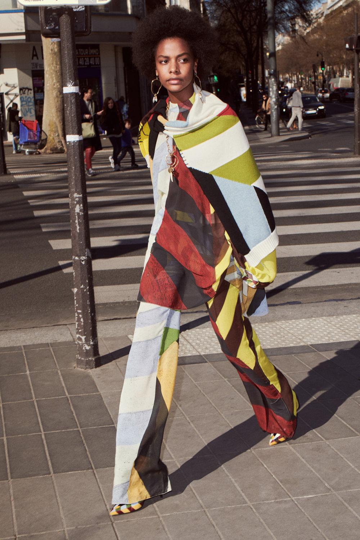 Sonia Rykiel时装系列细节如威尔士亲王式太阳裤外套的针织翻领-1.jpg