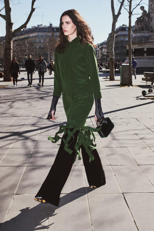 Sonia Rykiel时装系列细节如威尔士亲王式太阳裤外套的针织翻领-7.jpg