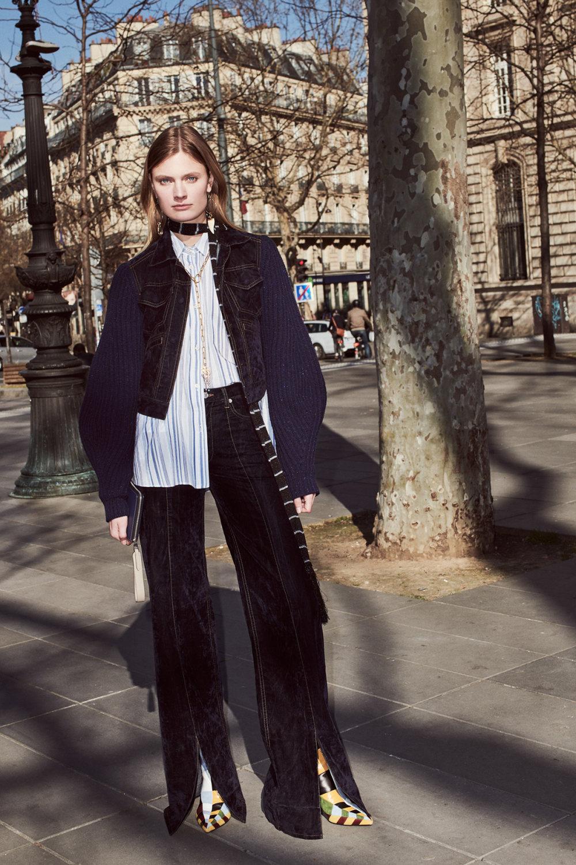 Sonia Rykiel时装系列细节如威尔士亲王式太阳裤外套的针织翻领-13.jpg