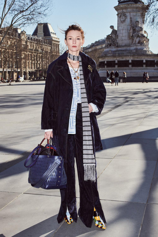 Sonia Rykiel时装系列细节如威尔士亲王式太阳裤外套的针织翻领-15.jpg