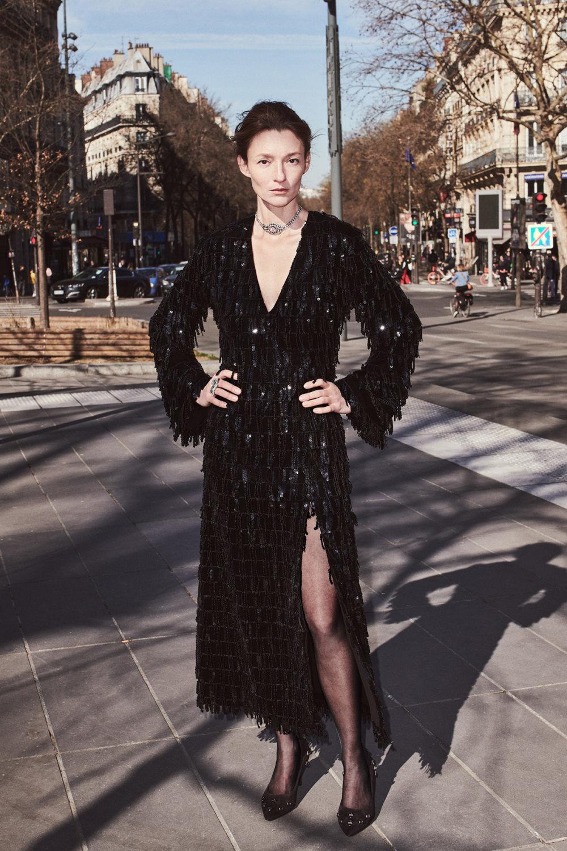 Sonia Rykiel时装系列细节如威尔士亲王式太阳裤外套的针织翻领-31.jpg