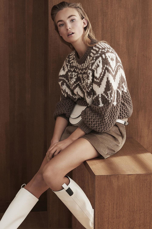 Brunello Cucinelli时装系列质地模仿的皮草配有前卫的羊毛背心-13.jpg