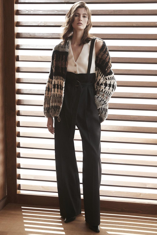 Brunello Cucinelli时装系列质地模仿的皮草配有前卫的羊毛背心-19.jpg