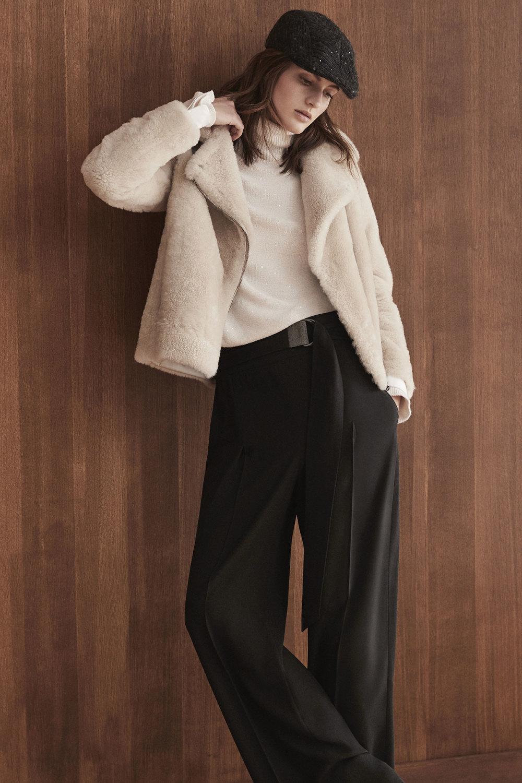 Brunello Cucinelli时装系列质地模仿的皮草配有前卫的羊毛背心-22.jpg
