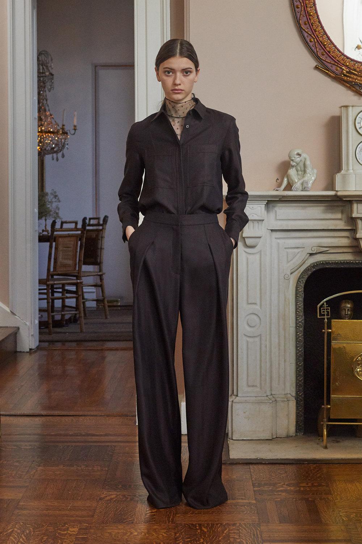 Adam Lippes时装系列的浅色迷人裙及无袖后扣栗色毛衣的百褶裙-9.jpg