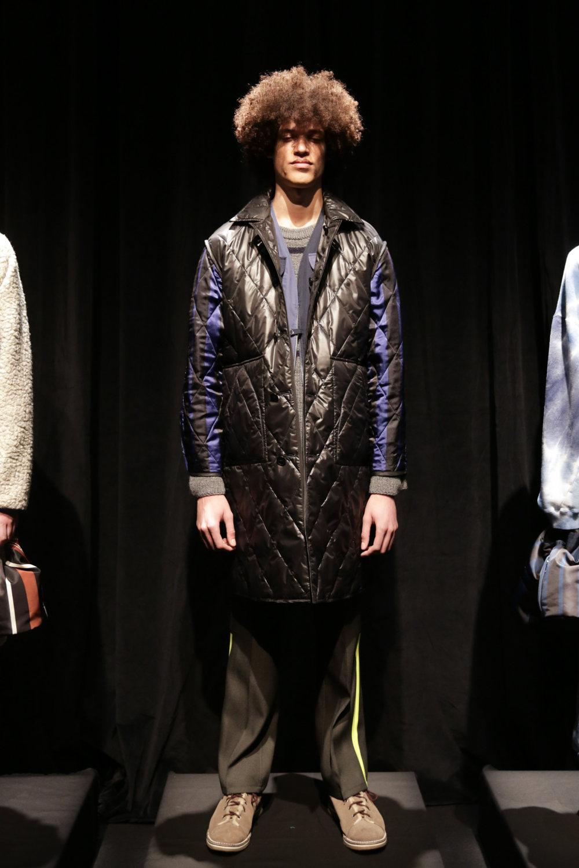 Noma时装系列法兰绒裤子和大胆的格子衬衫搭配男士黑色钓鱼背心-2.jpg