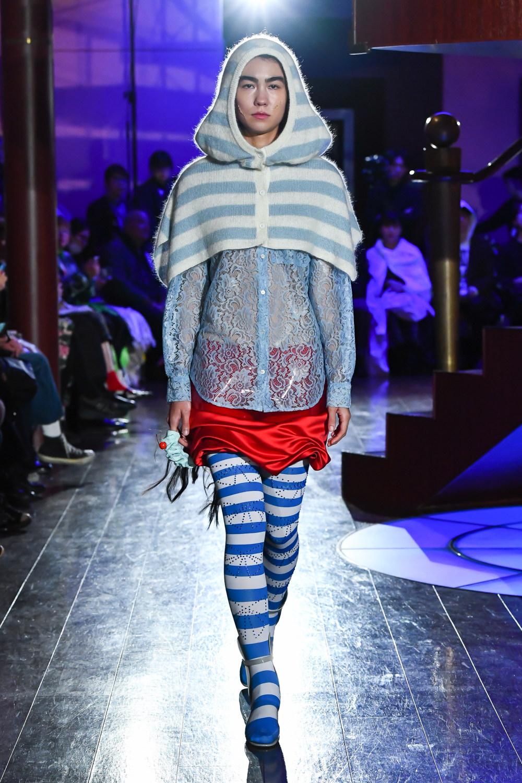 Jenny Fax时装系列搭配甜美柔和的蕾丝连衣裙搭配糖果条纹衬衫-11.jpg