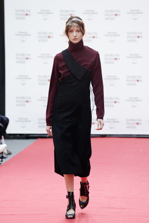 Shiroma时装系列深蓝色和芥末色蕾丝或者带有气球袖的勃艮第缎面-6.jpg