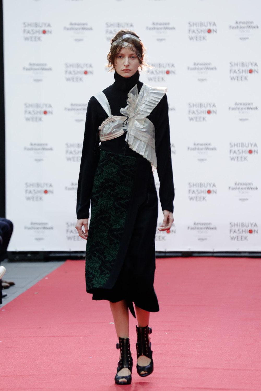 Shiroma时装系列深蓝色和芥末色蕾丝或者带有气球袖的勃艮第缎面-18.jpg