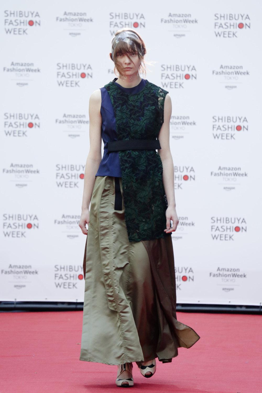 Shiroma时装系列深蓝色和芥末色蕾丝或者带有气球袖的勃艮第缎面-23.jpg