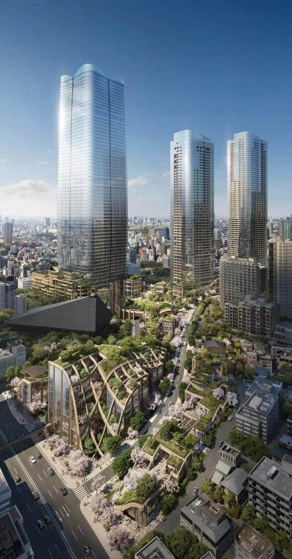 """日本东京建""""波浪形绿植凉棚"""",创造充满绿色的城市-1.jpg"""