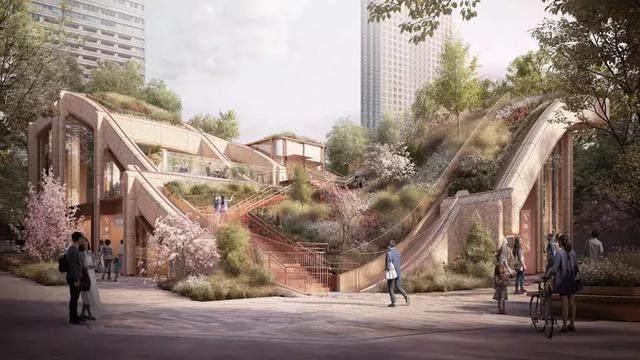 """日本东京建""""波浪形绿植凉棚"""",创造充满绿色的城市-2.jpg"""