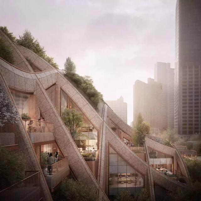 """日本东京建""""波浪形绿植凉棚"""",创造充满绿色的城市-5.jpg"""