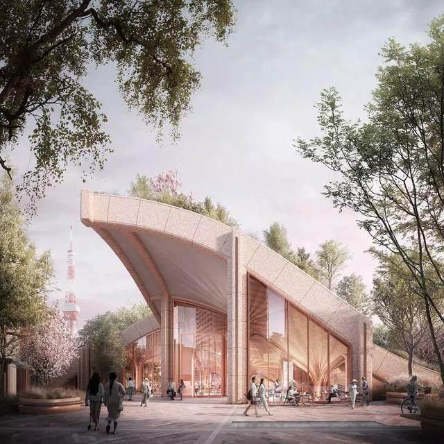"""日本东京建""""波浪形绿植凉棚"""",创造充满绿色的城市-4.jpg"""