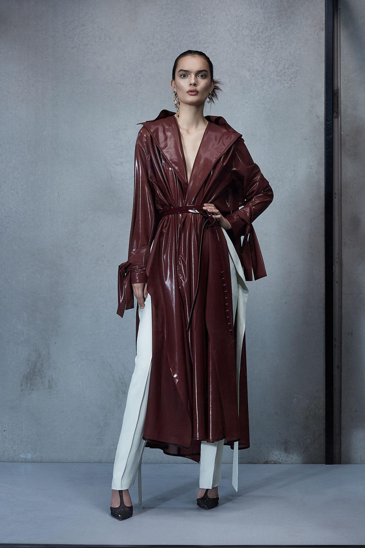 Maticevski时装系列无袖地板长度荷叶边紫红色礼服或棕色连衣裙-11.jpg