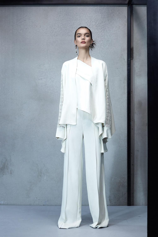 Maticevski时装系列无袖地板长度荷叶边紫红色礼服或棕色连衣裙-12.jpg