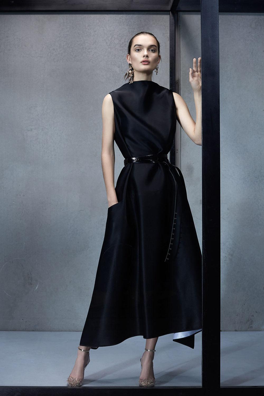 Maticevski时装系列无袖地板长度荷叶边紫红色礼服或棕色连衣裙-28.jpg