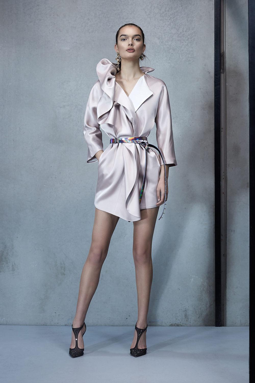 Maticevski时装系列无袖地板长度荷叶边紫红色礼服或棕色连衣裙-33.jpg
