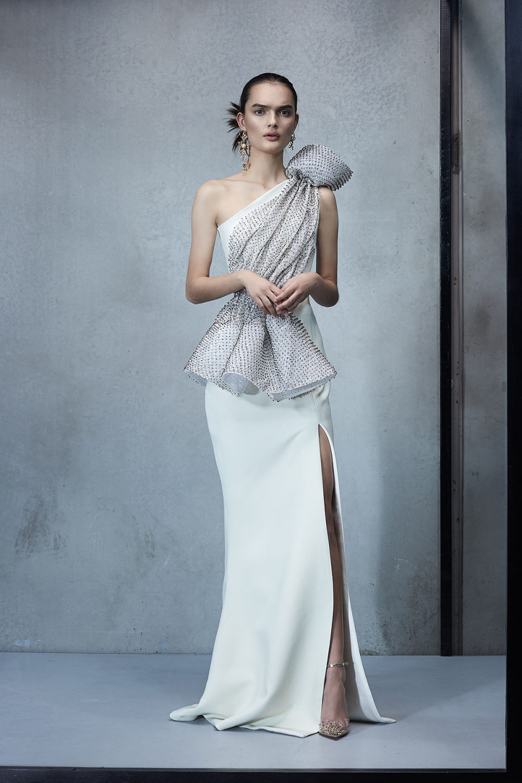 Maticevski时装系列无袖地板长度荷叶边紫红色礼服或棕色连衣裙-34.jpg