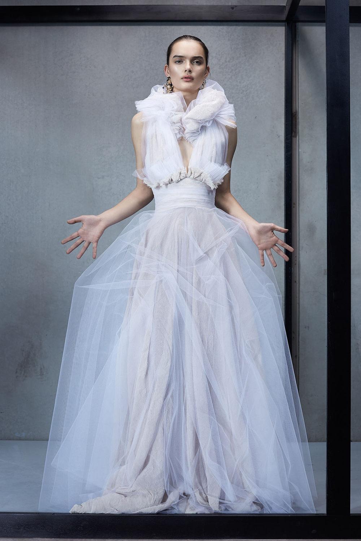 Maticevski时装系列无袖地板长度荷叶边紫红色礼服或棕色连衣裙-35.jpg