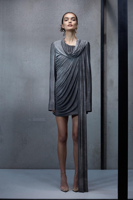 Maticevski时装系列无袖地板长度荷叶边紫红色礼服或棕色连衣裙-38.jpg