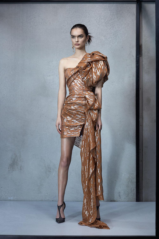 Maticevski时装系列无袖地板长度荷叶边紫红色礼服或棕色连衣裙-43.jpg