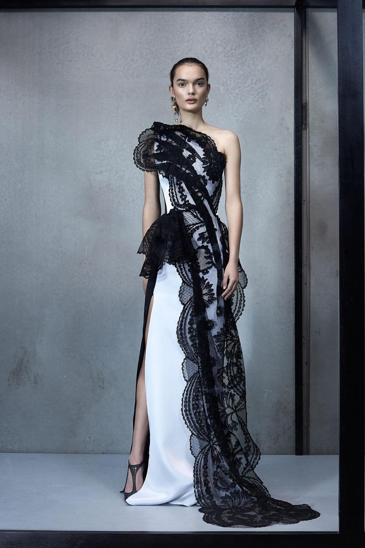 Maticevski时装系列无袖地板长度荷叶边紫红色礼服或棕色连衣裙-46.jpg