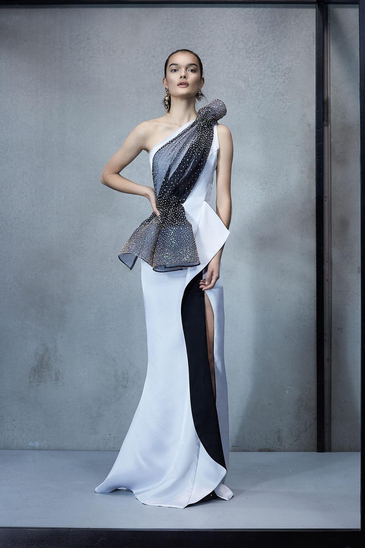 Maticevski时装系列无袖地板长度荷叶边紫红色礼服或棕色连衣裙-48.jpg