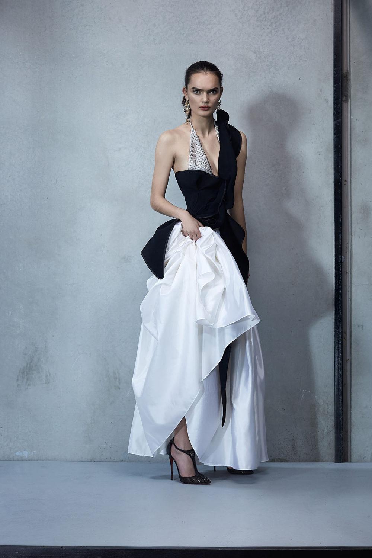 Maticevski时装系列无袖地板长度荷叶边紫红色礼服或棕色连衣裙-50.jpg