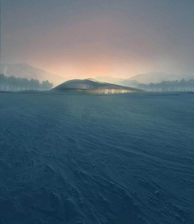 """亚布力中国企业家论坛会议中心最新施工进展,""""雪山""""轮廓初现-6.jpg"""
