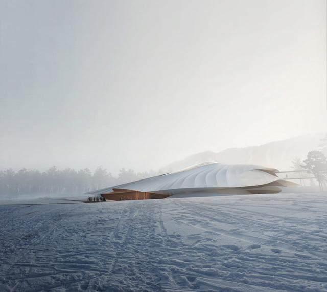 """亚布力中国企业家论坛会议中心最新施工进展,""""雪山""""轮廓初现-7.jpg"""
