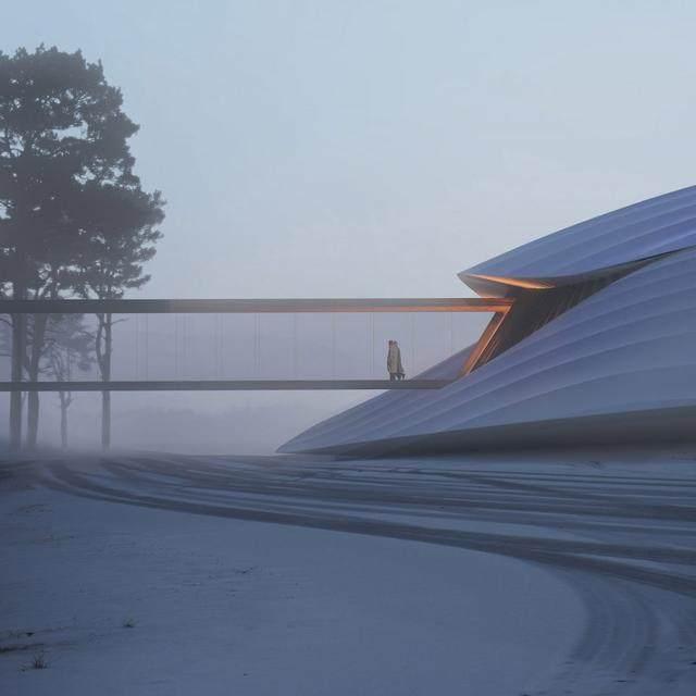 """亚布力中国企业家论坛会议中心最新施工进展,""""雪山""""轮廓初现-8.jpg"""