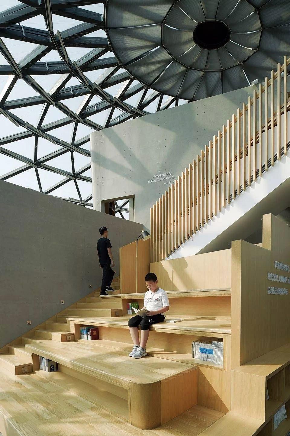 Metrics建筑事务所】890㎡ | 玻璃穹顶下的盒子 靖江书吧 | 实..