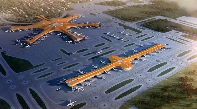 """北京大兴国际机场航站楼卫星厅开建,設計呈现""""一""""字造型-4.jpg"""