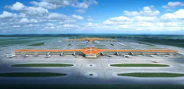 """北京大兴国际机场航站楼卫星厅开建,設計呈现""""一""""字造型-5.jpg"""