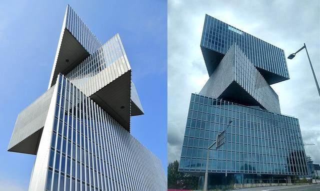OMA設計的荷兰新酒店即将完工,建築由三个可移动的三角体量组成-1.jpg