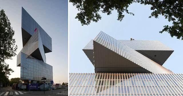 OMA設計的荷兰新酒店即将完工,建築由三个可移动的三角体量组成-2.jpg
