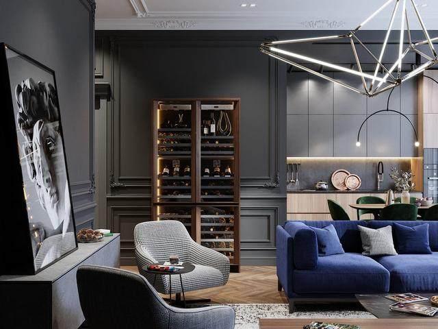 「設計」:高級灰蓝调公寓-oleg tyrnov-1.jpg