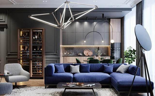 「設計」:高級灰蓝调公寓-oleg tyrnov-8.jpg