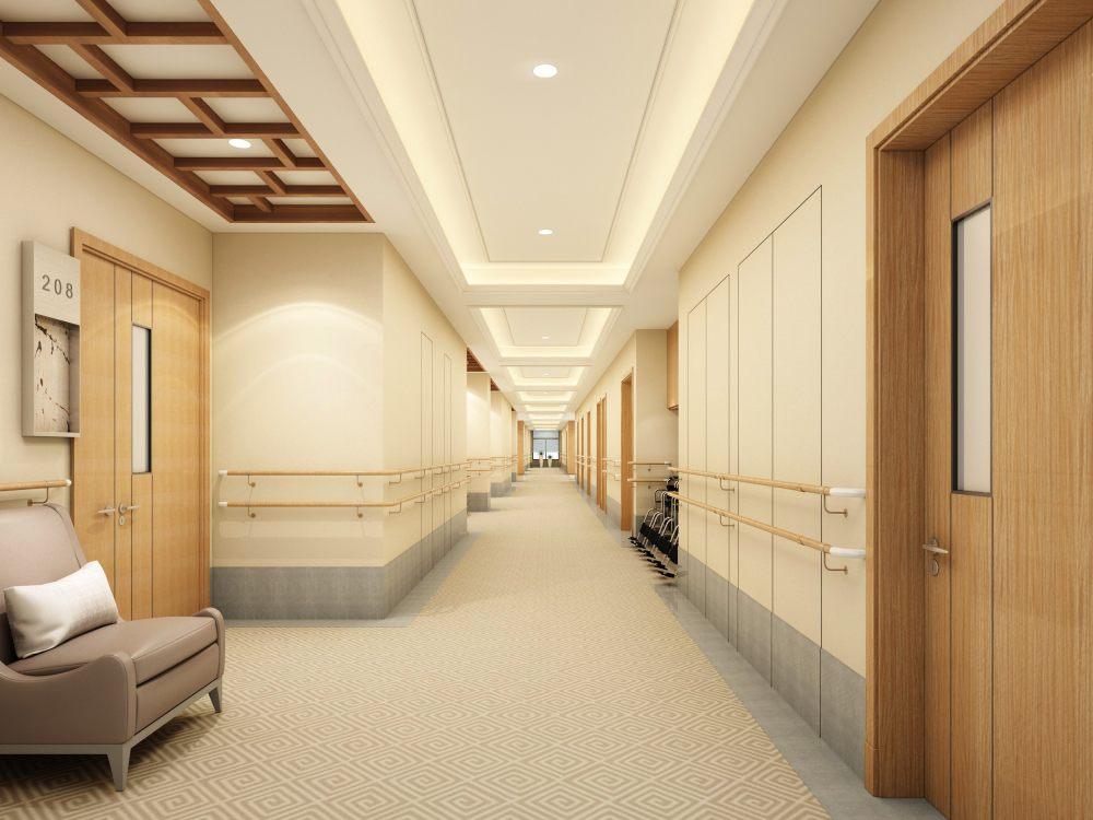 养老院 整套精美 现代美式的方案效果图_二层过道3.jpg