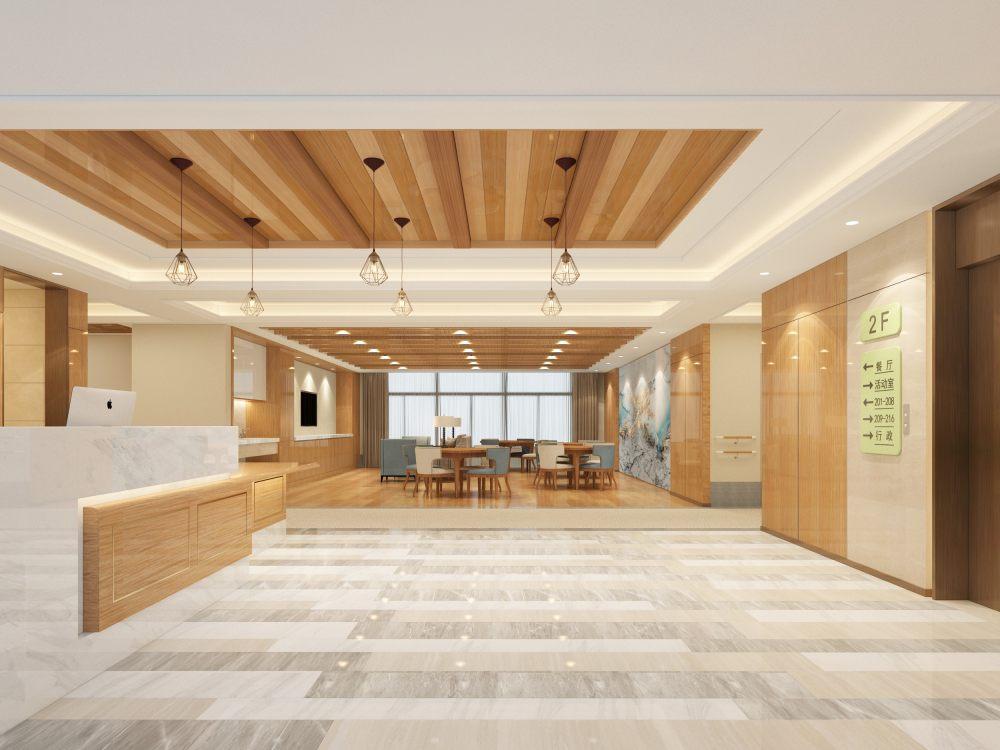 养老院 整套精美 现代美式的方案效果图_二层大厅5.jpg