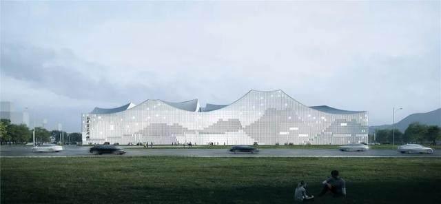 """福建美术馆概念性方案設計,建築呈现""""海浪""""形态-6.jpg"""