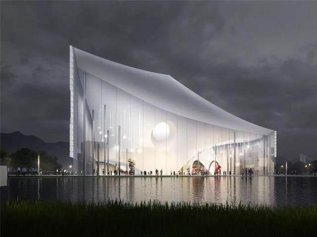"""福建美术馆概念性方案設計,建築呈现""""海浪""""形态-8.jpg"""